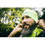Fluo-gele muts, ideaal voor fietsen en hardlopen,